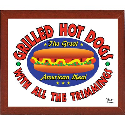 'Grilled Hot Dogs' Graphic Art Print ESUN6397 44159329