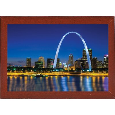 'Gateway Horizontal' Photographic Print Format: Red Mahogany Medium Framed, Size: 9