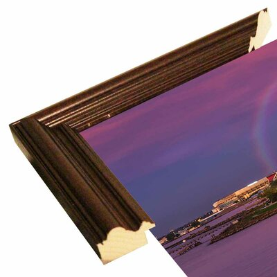 'Rainbow over Cleveland' Graphic Art Print Format: Cherry Grande Wood Framed, Size: 12