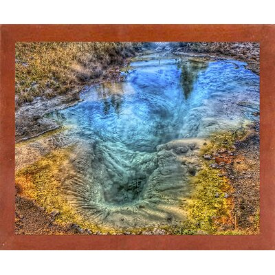 'Seismograph Pool YNP' Graphic Art Print Format: Canadian Walnut Medium Framed, Size: 8.25