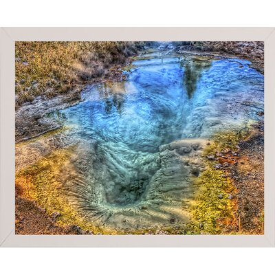 'Seismograph Pool YNP' Graphic Art Print Format: White Medium Wood Framed, Size: 8.25