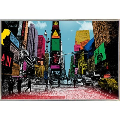 'Times Square' Graphic Art Print Format: Paper, Size: 14.5