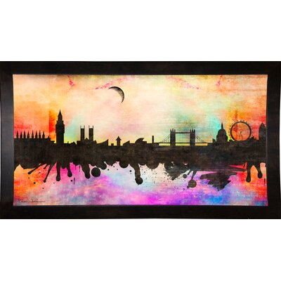 'London 1' Graphic Art Print Format: Cafe Espresso Framed Paper, Size: 15.5