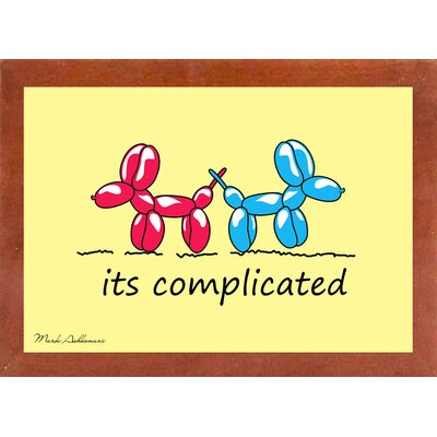 'Is Complicated' Graphic Art Print Format: Affordable Canadian Walnut Medium Framed Paper, Size: 15.75