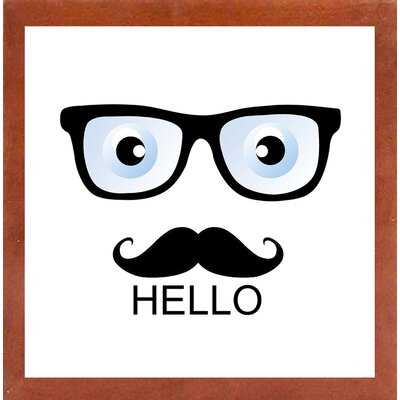 'Hello' Graphic Art Print Format: Affordable Canadian Walnut Medium Framed Paper, Size: 16.75