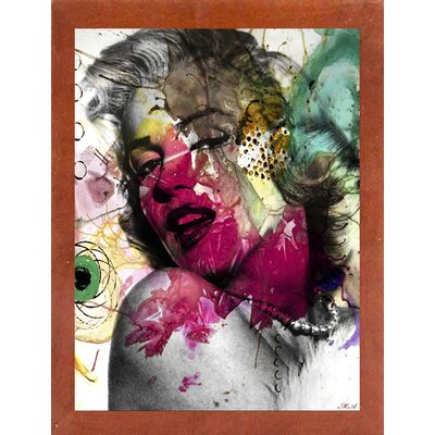 'Marilyn 2' Graphic Art Print Format: Affordable Canadian Walnut Medium Framed Paper, Size: 17.75