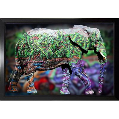 'Elephant' Graphic Art Print Format: Budget Saver Framed Paper, Size: 17.75