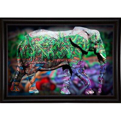'Elephant' Graphic Art Print Format: Bistro Espresso Framed Paper, Size: 17.75