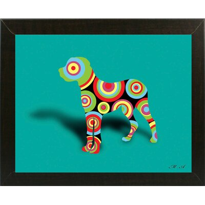 '12853128' Graphic Art Print Format: Affordable Brazilian Walnut Medium Framed Paper, Size: 18