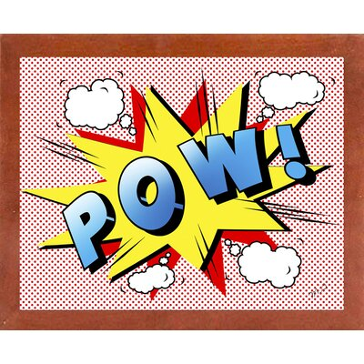 'Pow 2' Graphic Art Print Format: Affordable Canadian Walnut Medium Framed Paper, Size: 18.25