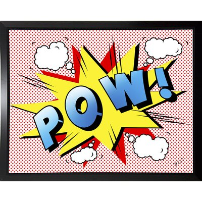 'Pow 2' Graphic Art Print Format: Budget Saver Framed Paper, Size: 18.25