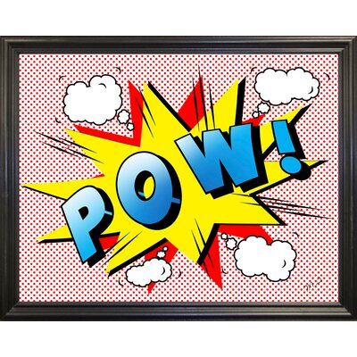 'Pow 2' Graphic Art Print Format: Black Grande Framed Paper, Size: 18.25