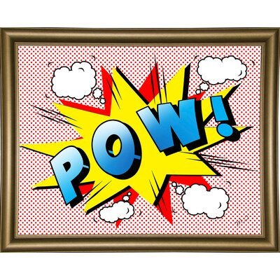 'Pow 2' Graphic Art Print Format: Bistro Gold Framed Paper, Size: 18.25