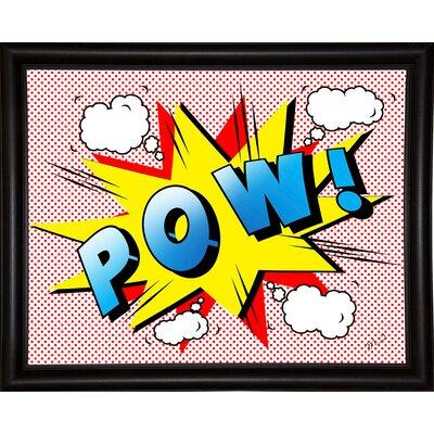 'Pow 2' Graphic Art Print Format: Bistro Espresso Framed Paper, Size: 18.25