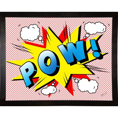 'Pow 2' Graphic Art Print Format: Cafe Espresso Framed Paper, Size: 18.25