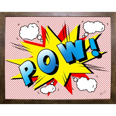 'Pow 2' Graphic Art Print Format: Cafe Mocha Framed Paper, Size: 18.25