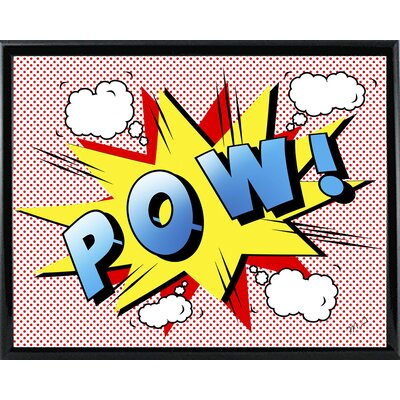 'Pow 2' Graphic Art Print Format: Black Metal Framed Paper, Size: 18.25