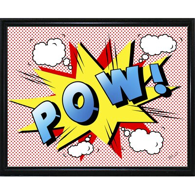 'Pow 2' Graphic Art Print Format: Flat Black Metal Framed Paper, Size: 18.25