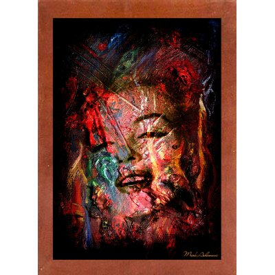 'Marilyn 7' Graphic Art Print Format: Affordable Canadian Walnut Medium Framed Paper, Size: 19