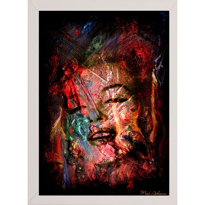 'Marilyn 7' Graphic Art Print Format: Affordable White Medium Framed Paper, Size: 19