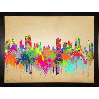 'New York 1' Graphic Art Print Format: Affordable Black Medium Framed Paper, Size: 20