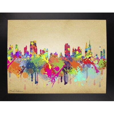 'New York 1' Graphic Art Print Format: Affordable Black Large Framed Paper, Size: 20