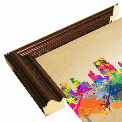 'New York 1' Graphic Art Print Format: Cherry Grande Framed Paper, Size: 20