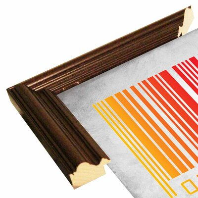 'Zebra Barcode' Graphic Art Print Format: Cherry Grande Framed Paper, Size: 20