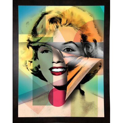'Marilyn 4' Graphic Art Print Format: Affordable Black Medium Framed Paper, Size: 21.5
