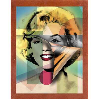 'Marilyn 4' Graphic Art Print Format: Affordable Canadian Walnut Medium Framed Paper, Size: 21.5