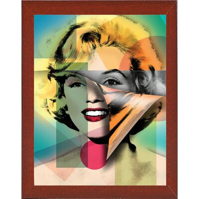 'Marilyn 4' Graphic Art Print Format: Affordable Red Mahogany Medium Framed Paper, Size: 21.5