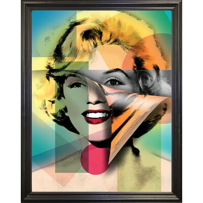 'Marilyn 4' Graphic Art Print Format: Black Grande Framed Paper, Size: 21.5