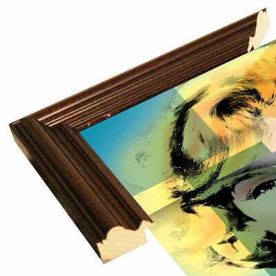 'Marilyn 4' Graphic Art Print Format: Cherry Grande Framed Paper, Size: 21.5