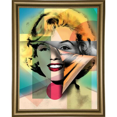 'Marilyn 4' Graphic Art Print Format: Bistro Gold Framed Paper, Size: 21.5