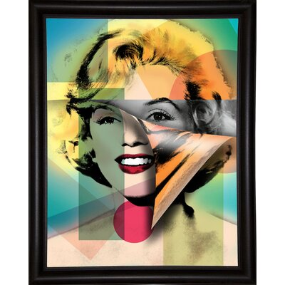 'Marilyn 4' Graphic Art Print Format: Bistro Espresso Framed Paper, Size: 21.5