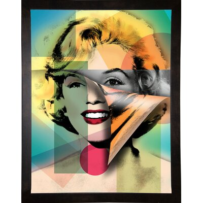 'Marilyn 4' Graphic Art Print Format: Cafe Espresso Framed Paper, Size: 21.5