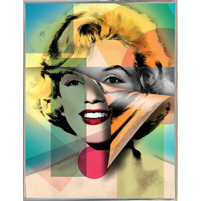 'Marilyn 4' Graphic Art Print Format: Silver Metal Framed Paper, Size: 21.5