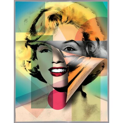 'Marilyn 4' Graphic Art Print Format: White Metal Framed Paper, Size: 21.5