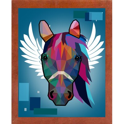 'Wpap Horse 2' Graphic Art Print Format: Affordable Canadian Walnut Medium Framed Paper, Size: 21.5