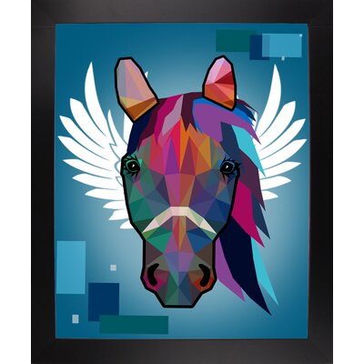 'Wpap Horse 2' Graphic Art Print Format: Affordable Black Large Framed Paper, Size: 21.5