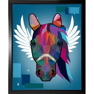 'Wpap Horse 2' Graphic Art Print Format: Budget Saver Framed Paper, Size: 21.5
