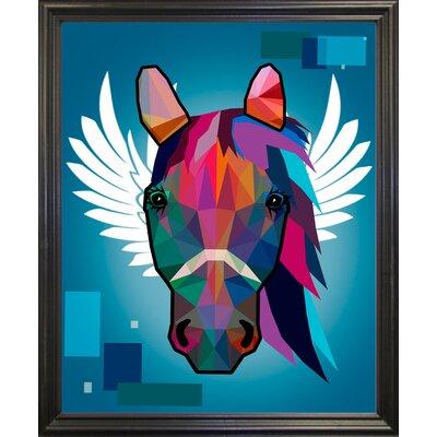 'Wpap Horse 2' Graphic Art Print Format: Black Grande Framed Paper, Size: 21.5