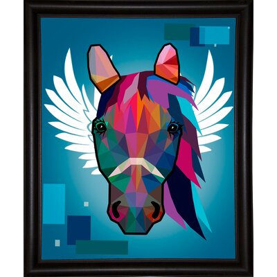 'Wpap Horse 2' Graphic Art Print Format: Bistro Espresso Framed Paper, Size: 21.5