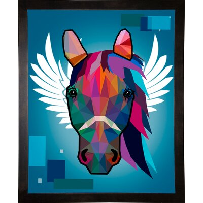 'Wpap Horse 2' Graphic Art Print Format: Cafe Espresso Framed Paper, Size: 21.5