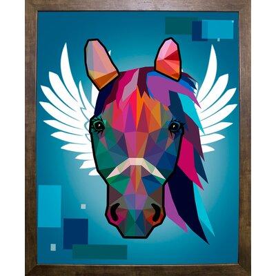 'Wpap Horse 2' Graphic Art Print Format: Cafe Mocha Framed Paper, Size: 21.5