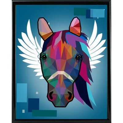 'Wpap Horse 2' Graphic Art Print Format: Black Metal Framed Paper, Size: 21.5