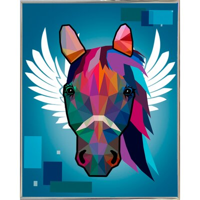 'Wpap Horse 2' Graphic Art Print Format: Silver Metal Framed Paper, Size: 21.5