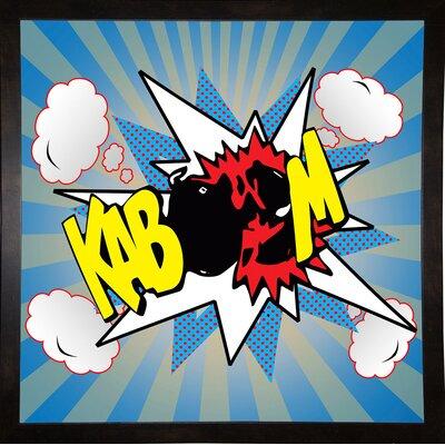 'Kaboom 2' Graphic Art Print Format: Affordable Black Medium Framed Paper, Size: 21.75