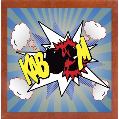 'Kaboom 2' Graphic Art Print Format: Affordable Canadian Walnut Medium Framed Paper, Size: 21.75