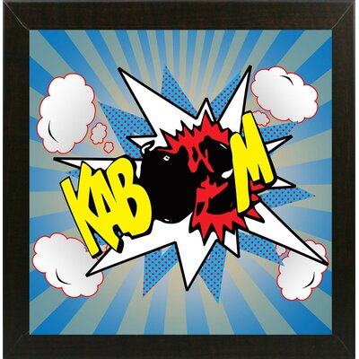 'Kaboom 2' Graphic Art Print Format: Affordable Brazilian Walnut Medium Framed Paper, Size: 21.75